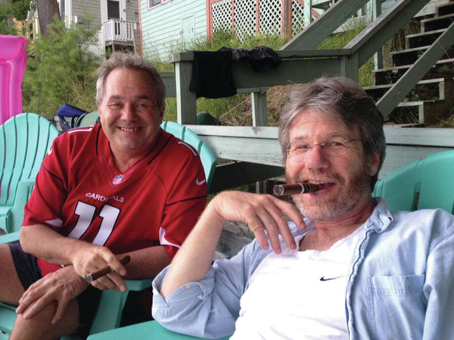The Telegraph Executive Editor Warren Watson, left, and best friend Bill Nemitz, of Maine. Photo: For The Telegraph