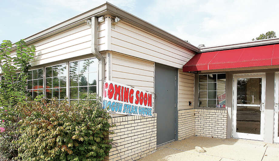 The former Golden Corral restaurant building, at the corner of Humbert Street and the Homer Adams Parkway, will soon become a Shogun steak house.