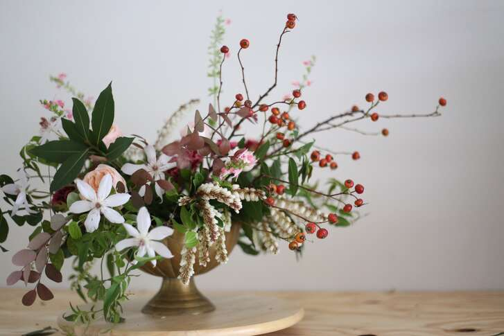 Austin floral designer Christin Armstrong gets most of the plant materials for her romantic arrangements from local farmers.