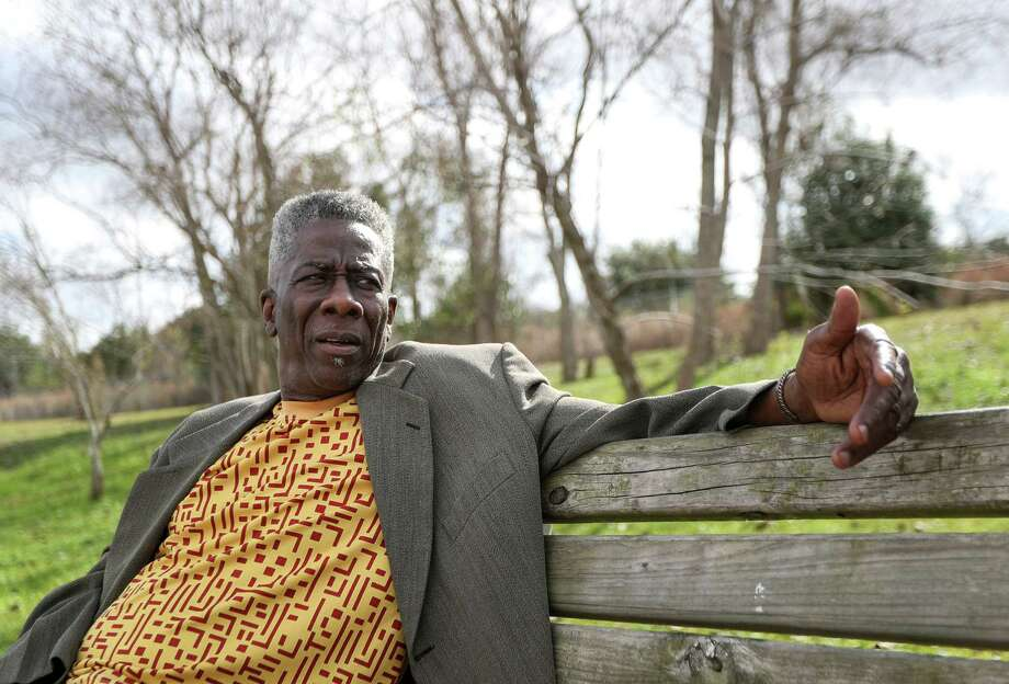Omowale Luthuli-Allen, who advocated for the closing of the Holmes Road Incinerator in the late 1960's and early 1970's, is seen during an interview at Sunnyside Park, Friday, Dec. 22, 2017, in Houston. Photo: Jon Shapley / © 2017 Houston Chronicle
