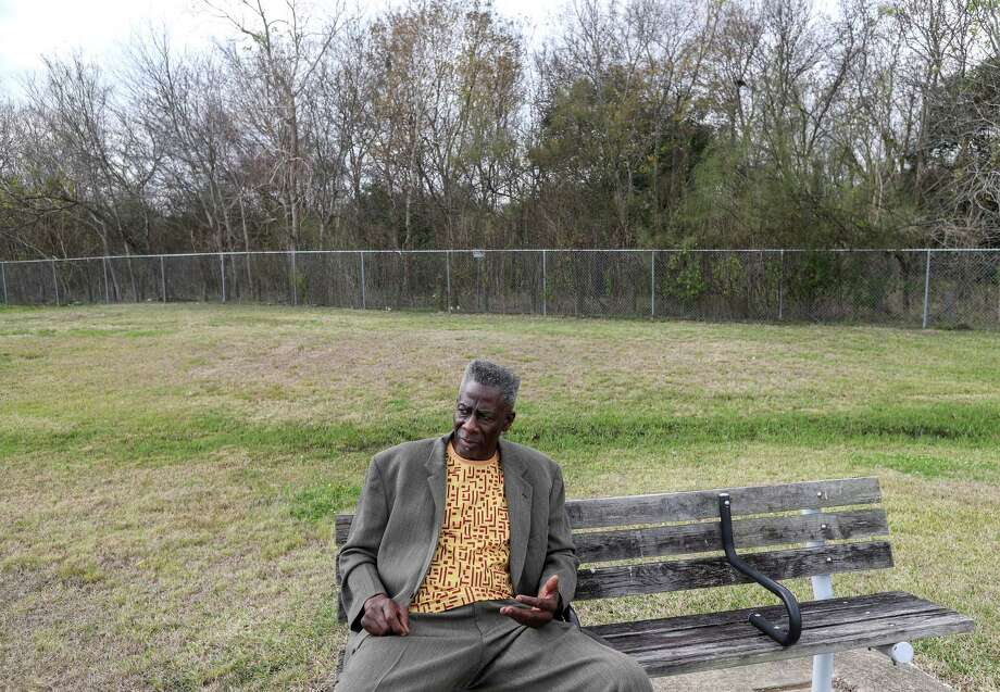 Omowale Luthuli-Allen, who advocated for the closing of the Holmes Road Incinerator in the late 1960's and early 1970's, is seen during an interview at Sunnyside Park, Friday, Dec. 22, 2017, in Houston. Photo: Jon Shapley, Houston Chronicle / © 2017 Houston Chronicle
