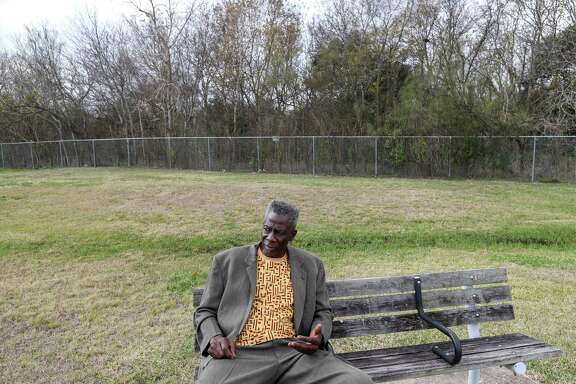 Omowale Luthuli-Allen, who advocated for the closing of the Holmes Road Incinerator in the late 1960's and early 1970's, is seen during an interview at Sunnyside Park, Friday, Dec. 22, 2017, in Houston.
