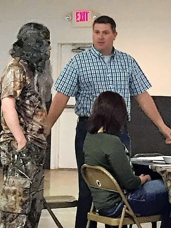 Willie Robertson's son John Luke (portrayed by Danny Powell), tried to explain his situation to Phil Robertson (portrayed by an Upstage Productions actor).