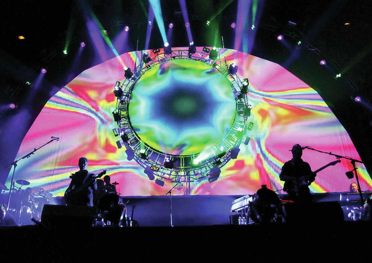 The Pink Floyd tribute band Brit Floyd performs at Liverpool Echo Arena. The band will perform Wednesday at the University of Illinois Springfield's Sangamon Auditorium.