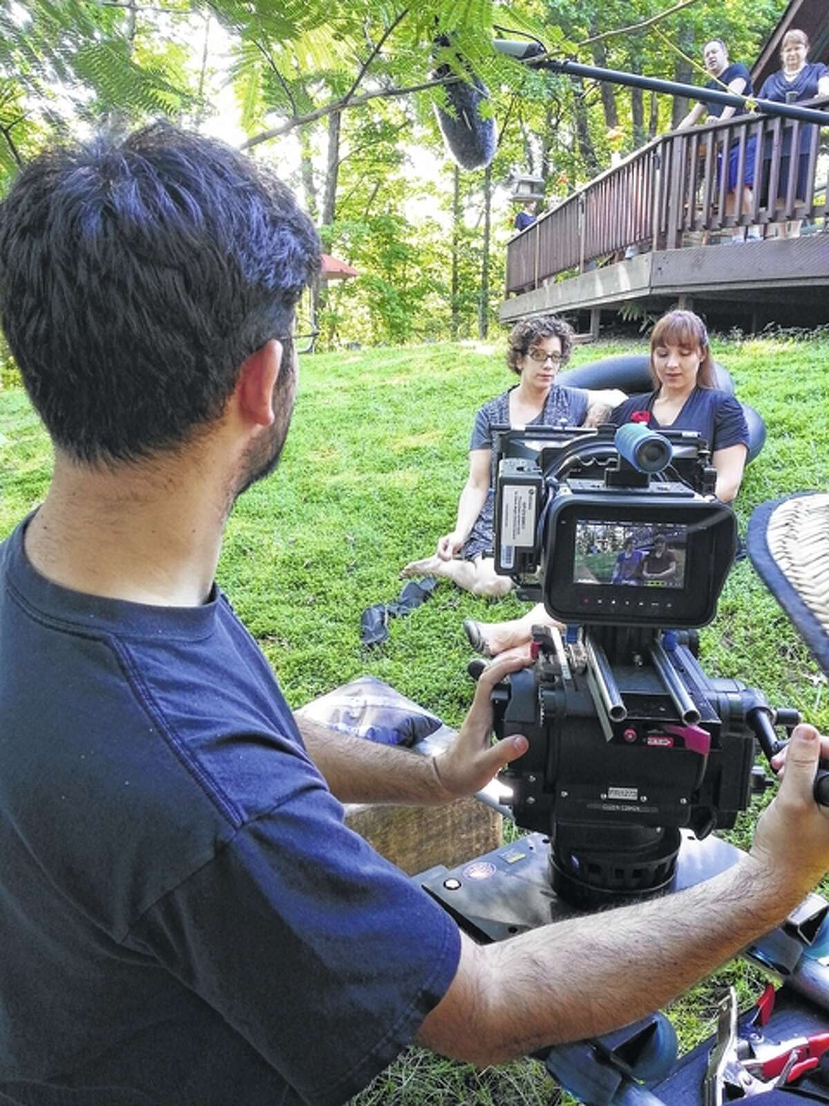 """Jacksonville native Jackie Manker (right) appears in a scene from the film """"Proximity."""""""