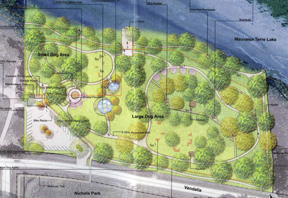A master plan for the Jacksonville Bark Park calls for separate areas for large and small dogs, walking trails, a dog wash station and other amenities.