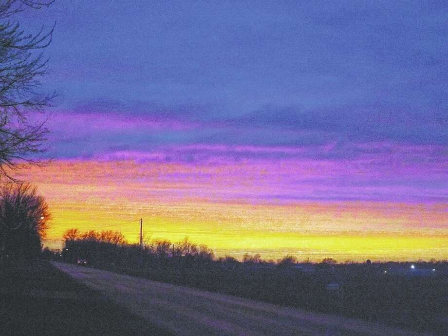 A brilliant palette of colors fills the night sky in Morgan County. Photo: Kathie Alderman | Reader Photo