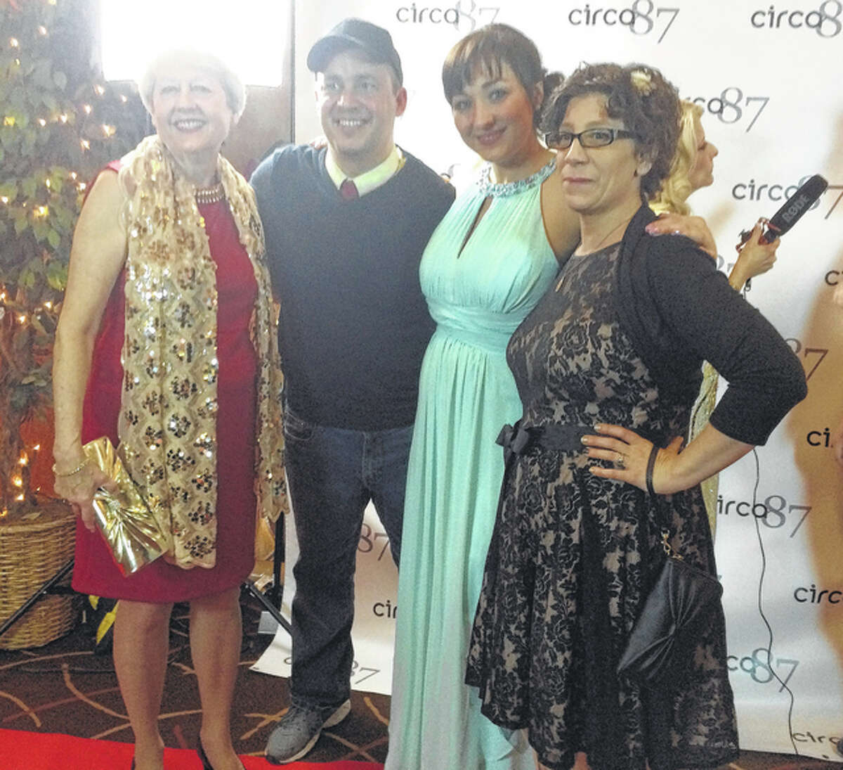 """Director Dan Steadman with Jackie Manker and members of the cast of """"Proximity."""""""
