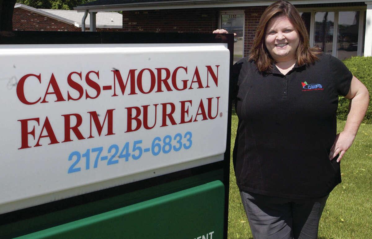 Lindsay McQueen, manager of the Cass/Morgan Farm Bureau.