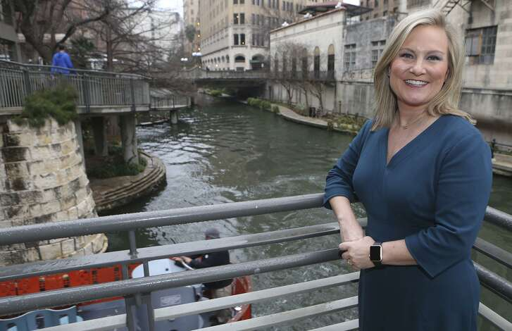 Visit San Antonio CEO Casandra Matej stands Tuesday February 6, 2018 by their offices on the San Antonio River.