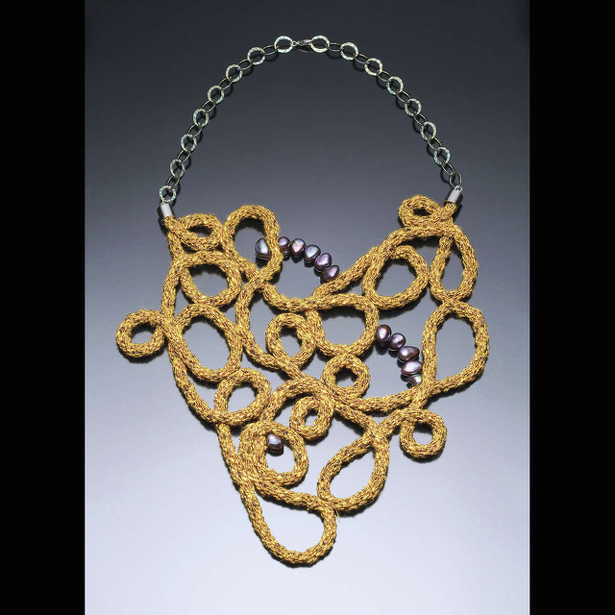 Jewelry by Leigh Roberts will be displayed through May 29 at the Strawn Gallery.
