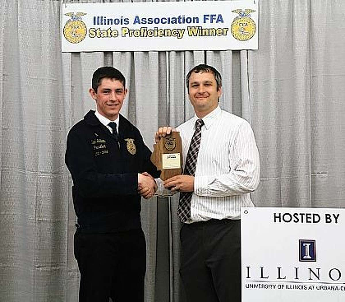 Noah Sellars was selected as the state FFA proficiency winner in home and community development for his volunteer work with the Winchester Emergency Medical Service. Sellars is a member of the Winchester FFA Chapter. Illinois FFA recognizes students in 52 different areas based on their work-based learning, also known as Supervised Agriculture Experiences or SAE. Sellars was selected as the state winner by a committee of agricultural industry representatives and teachers knowledgeable in this work-based area. Receiving this honor now makes Sellars eligible to compete in the national FFA awards selection process in July. He was previously chosen as the chapter, section and district award winner in this area. A senior at Winchester High School, Sellars has been involved in FFA for four years and serves as president of Winchester's FFA Chapter. He is the son of Andy and Jennifer Sellars of Winchester and plans to attend the University of Illinois Urbana-Champaign this fall.