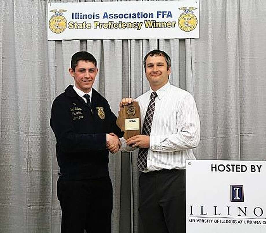Noah Sellars was selected as the state FFA proficiency winner in home and community development for his volunteer work with the Winchester Emergency Medical Service. Sellars is a member of the Winchester FFA Chapter. Illinois FFA recognizes students in 52 different areas based on their work-based learning, also known as Supervised Agriculture Experiences or SAE. Sellars was selected as the state winner by a committee of agricultural industry representatives and teachers knowledgeable in this work-based area. Receiving this honor now makes Sellars eligible to compete in the national FFA awards selection process in July. He was previously chosen as the chapter, section and district award winner in this area. A senior at Winchester High School, Sellars has been involved in FFA for four years and serves as president of Winchester's FFA Chapter. He is the son of Andy and Jennifer Sellars of Winchester and plans to attend the University of Illinois Urbana-Champaign this fall. Photo: Submitted Photo