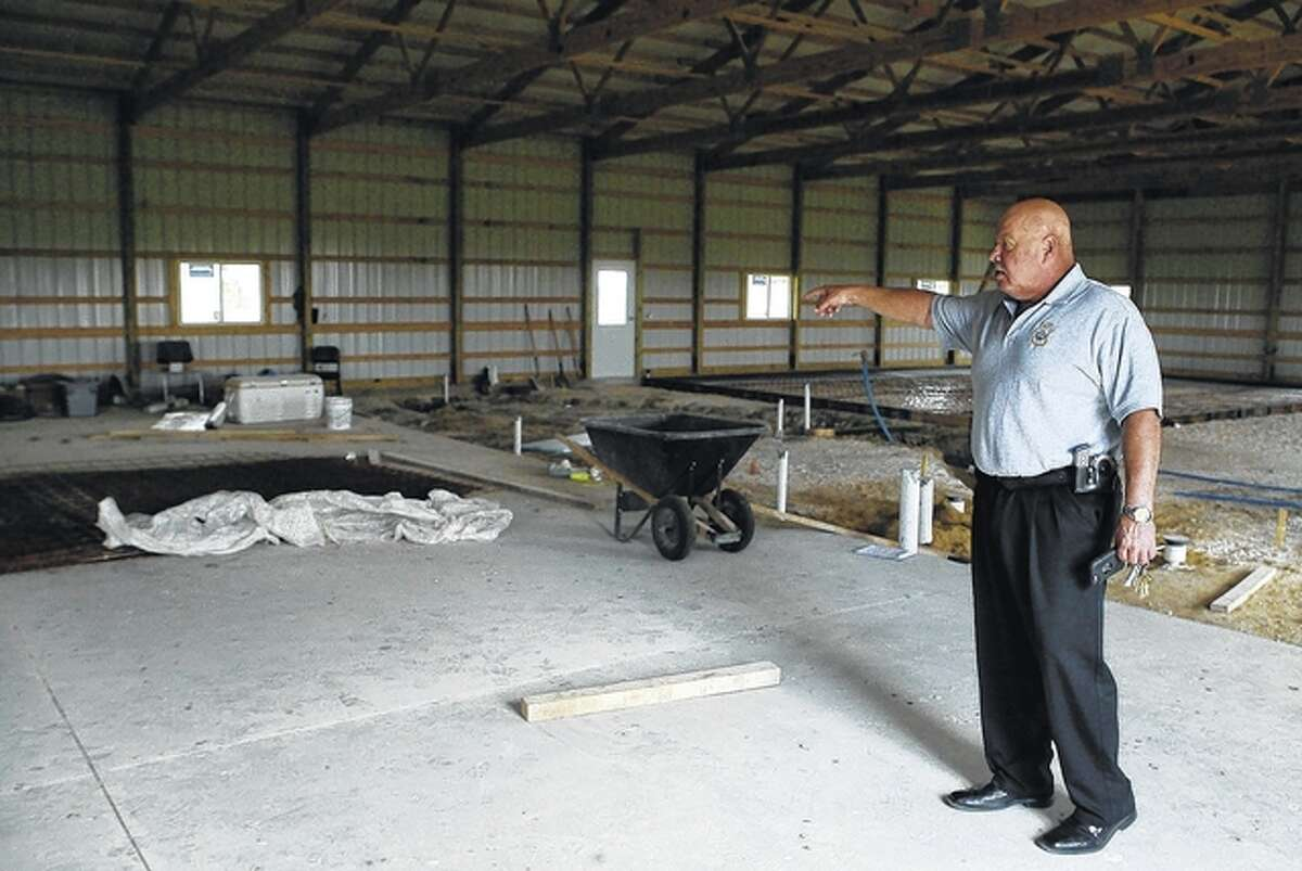 Jacksonville Police Chief Tony Grootens stands inside the new Jacksonville Police Training Center near Lake Jacksonville. Grootens said he hopes the training center is ready for use by late September.