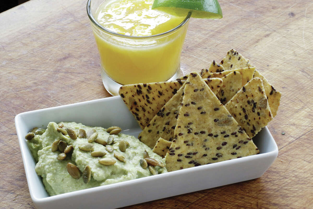 For a lighter version of Mexican-styled refried beans, replace the pinto beans with edamame.