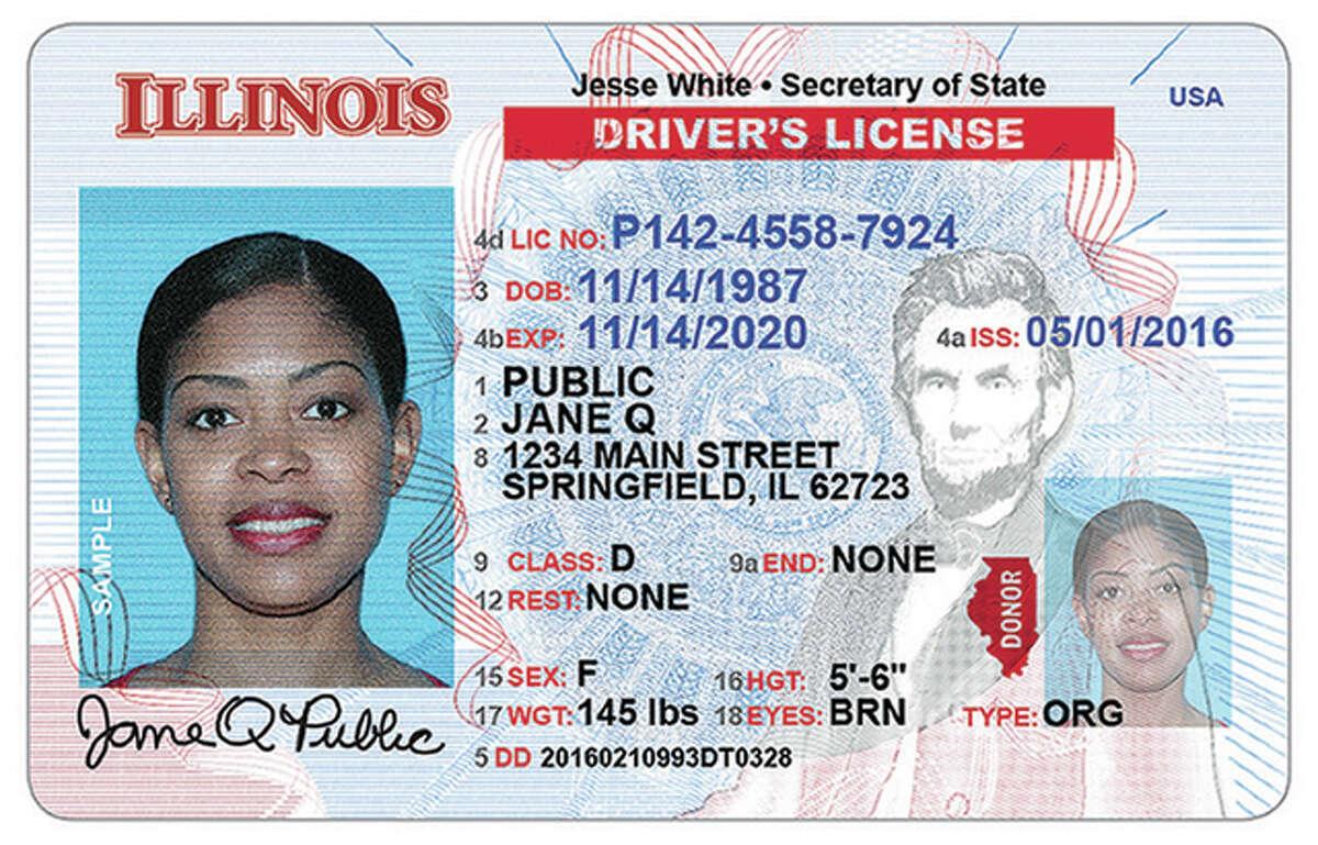 Secretary of State office New Illinois driver's licenses and state identification cards will include a number of features designed to meet requirements of the federal Real ID standards.