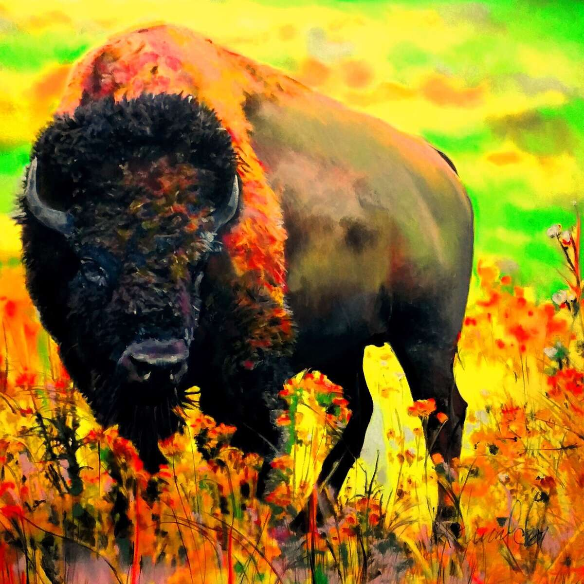 Artist Julie Howard will sell her work in a new vendor area between NRG Center and NRG Stadium at the Houston Livestock Show and Rodeo. Her work is done with organic pastels.