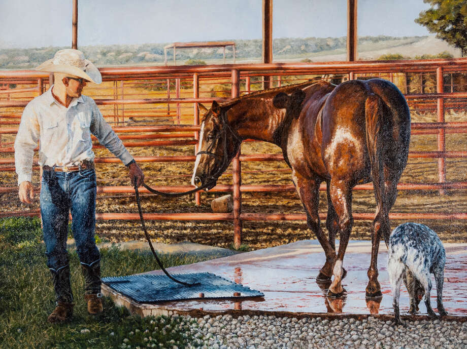 """""""Glistening at the Four Sixes,"""" by Melissa Sosa of Pasadena ISD, was a 2017 Class Champion in the Houston Livestock Show and Rodeo's Student Art Program. Photo: Courtesy Of The Artist"""