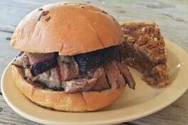 Goode Company Barbeque's brisket sandwich