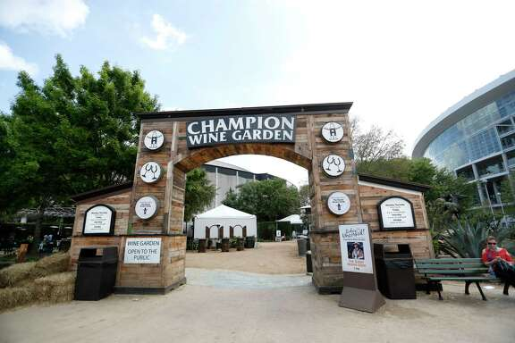 The Champion Wine Garden, Friday, March 17, 2017, at the Houston Livestock Show and Rodeo at NRG Park in Houston.  ( Karen Warren / Houston Chronicle )