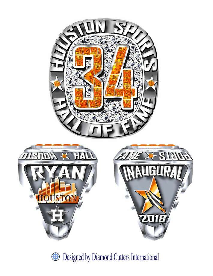 PHOTOS: A look at the other Houston Hall of Fame ringsThe design for Nolan Ryan's Houston sports Hall of Fame ring.Browse through the photos above for a look at all the Houston sports Hall of Fame rings. Photo: Diamond Cutters International
