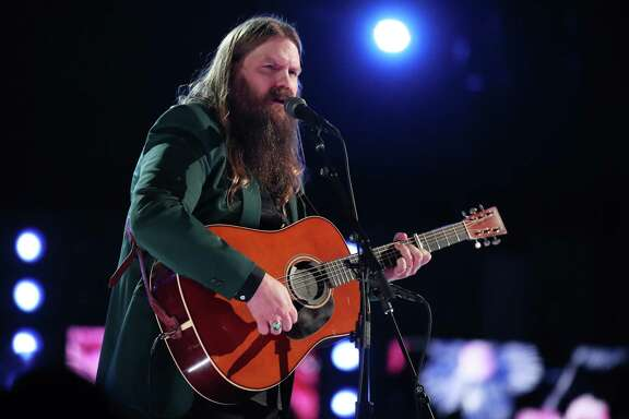 NEW YORK, NY - JANUARY 28:  Recording artist Chris Stapleton performs onstage during the 60th Annual GRAMMY Awards at Madison Square Garden on January 28, 2018 in New York City.  (Photo by Christopher Polk/Getty Images for NARAS)