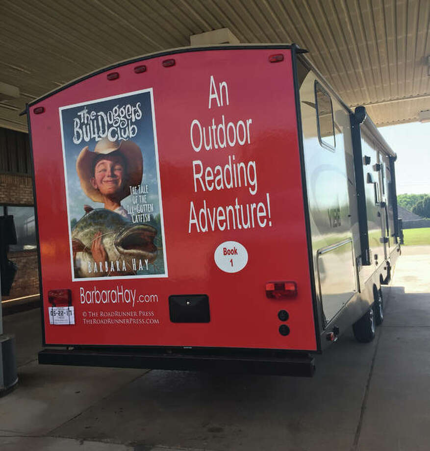 After Alton's book signing Saturday, June 17, award-winning author Barbara Hay will head to Chicago for a book signing traveling in a pickup truck, hauling the little travel trailer that will be her home for much of the next year. Photo: Submitted Photo/For The Telegraph