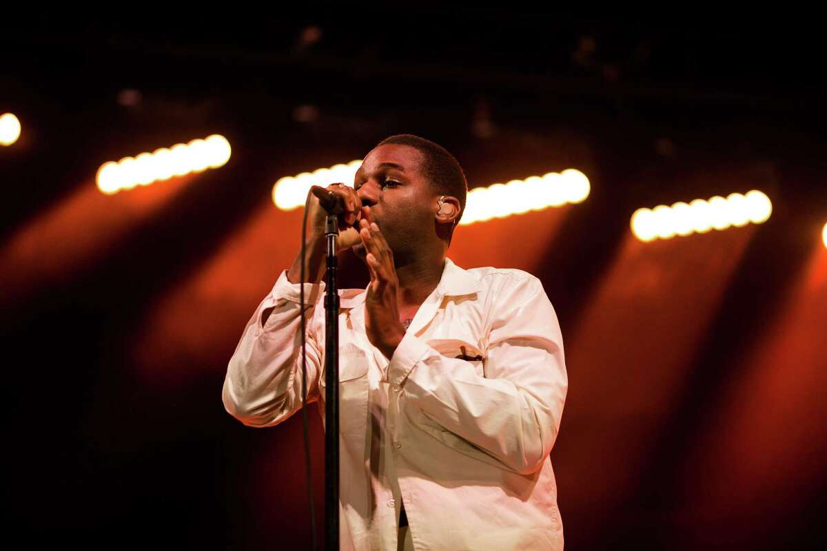 Leon Bridges performs at the Monterey International Pop Festival at the Monterey County Fairgrounds in Monterey, Calif. Friday, June 16, 2017.