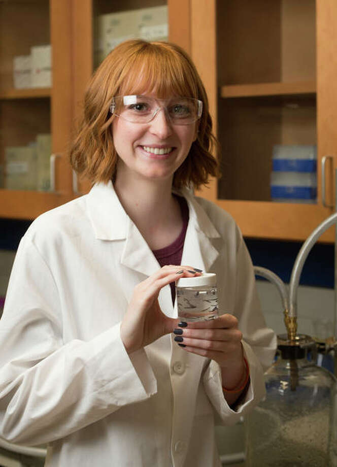 SIUE's Rachel Davis, a senior chemistry major, has secured external funding for her undergraduate research. Photo: For The Telegraph