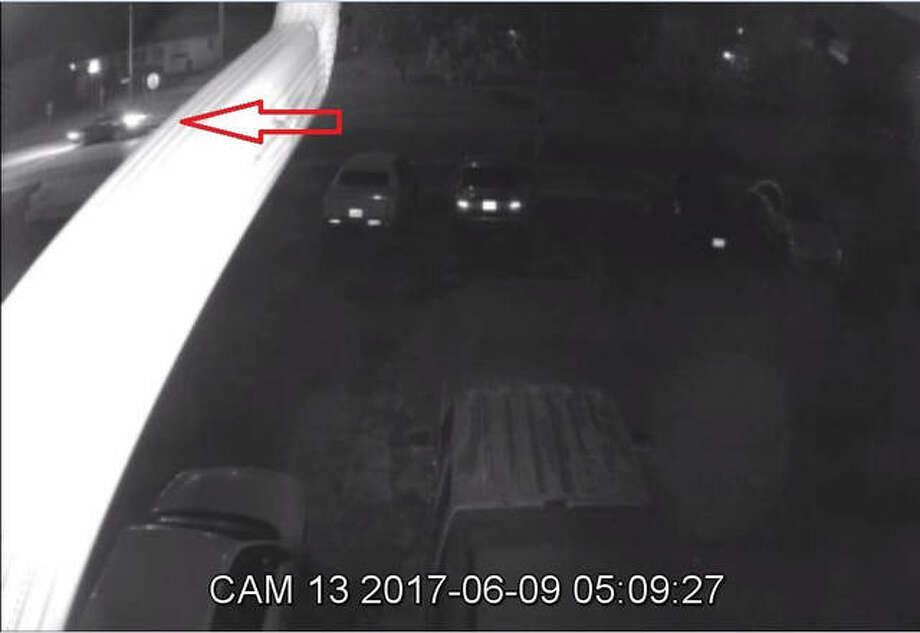 Surveillance photos show the suspect vehicle. Photo: For The Telegraph