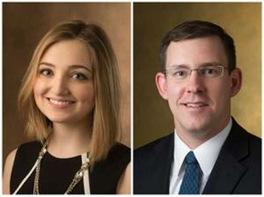 SIUE School of Pharmacy students Kaylee Poole and James Reimer. Photo: For The Telegraph