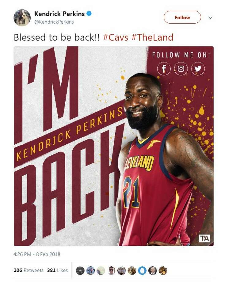 Former Ozen star Kendrick Perkins deleted a tweet he was heading back to the Cleveland Cavaliers.