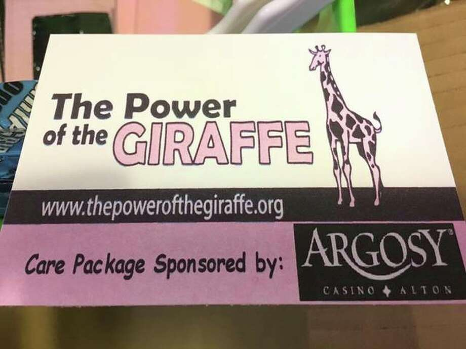 One of the care packages made earlier this year at The Power of the Giraffe's basket build at Argosy Casino.