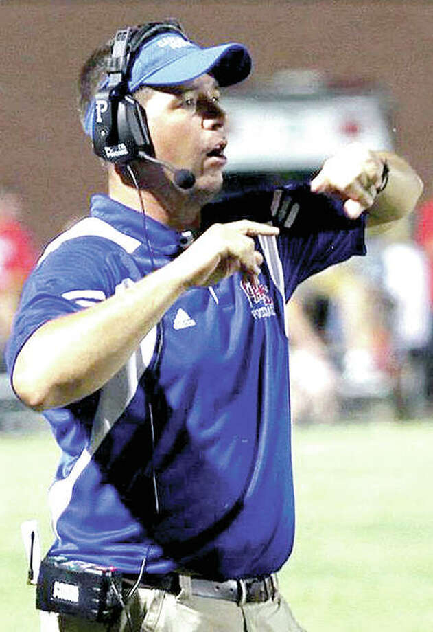 Chad Easterday of Carlinville is The Telegraph's 2016 Small-Schools Football Coach of the Year. Photo: James B. Ritter | For The Telegraph