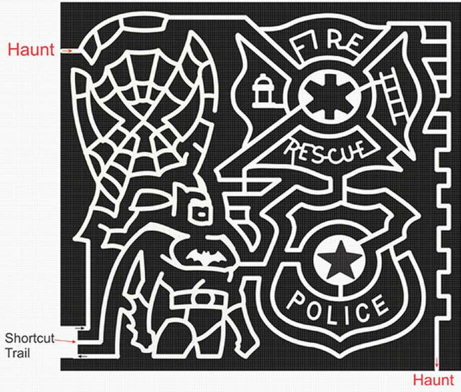 Artists' rendering of Great Godfrey Maze design.