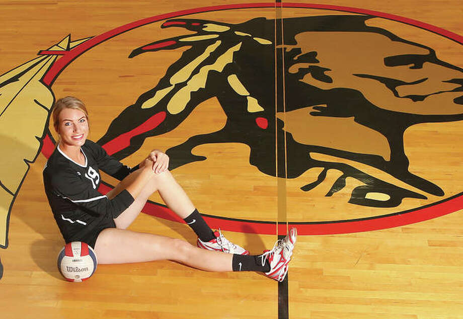 Calhoun senior Grace Baalman is the 2016 Telegraph Small-Schools Volleyball Player of the Year. With more than 1,000 career kills, Baalman led the Warriors to 118 victories in her four seasons as a starter. Photo: Billy Hurst | For The Telegraph