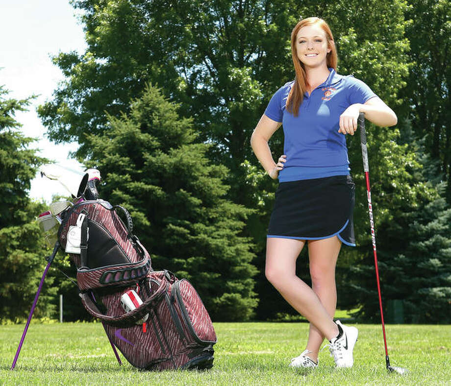 Roxana's Bailey Sharpmack is The Telegraph's 2016 Girls Golfer of the Year. Sharpmack was also named the Class 1A Girls Golfer of the Year by the Metro East Golf Coaches Association. An IHSA Girls State Golf Tournament qualifier, she was a regional champion and then qualified for state as one of three golfers with an 85 to advance out of the sectional. Photo: Billy Hurst | For The Telegraph