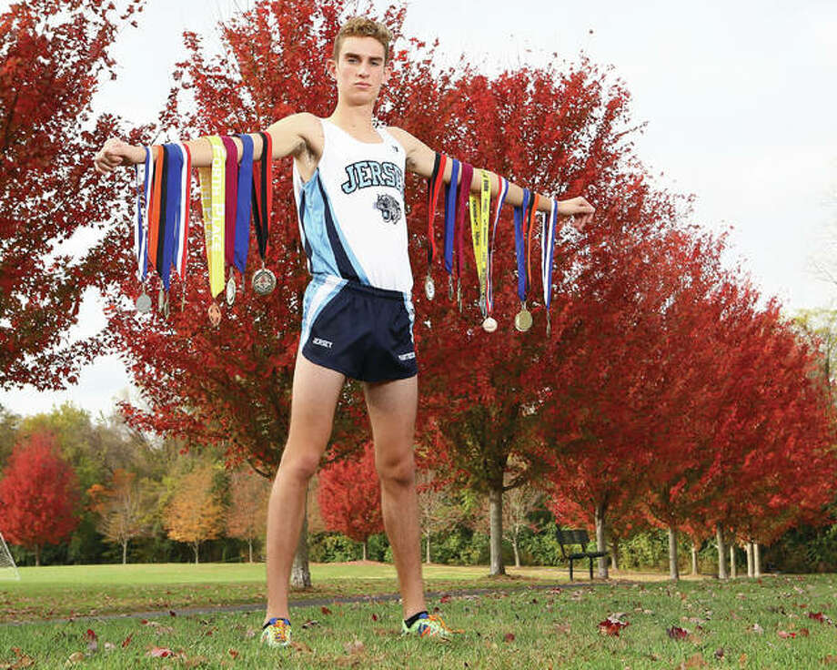 Jersey's Ben Flowers had an eighth-place finish in the Class 2A state cross country meet and repeats as The Telegraph Boys Cross Country Runner of the Year. Photo: Billy Hurst   For The Telegraph