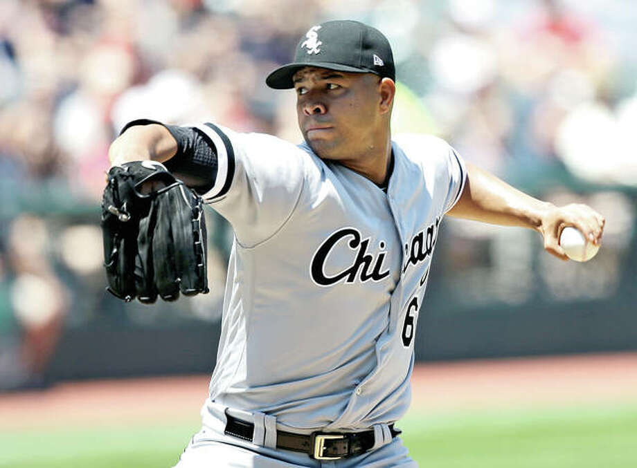 The Chicago White Sox traded left-handed pitcher Jose Quintana to the crosstown rival Cubs Thursday for outfielder Eloy Jimenez, right-handed pitcher Dylan Cease and infielders Matt Rose and Bryant Flete. Photo: AP