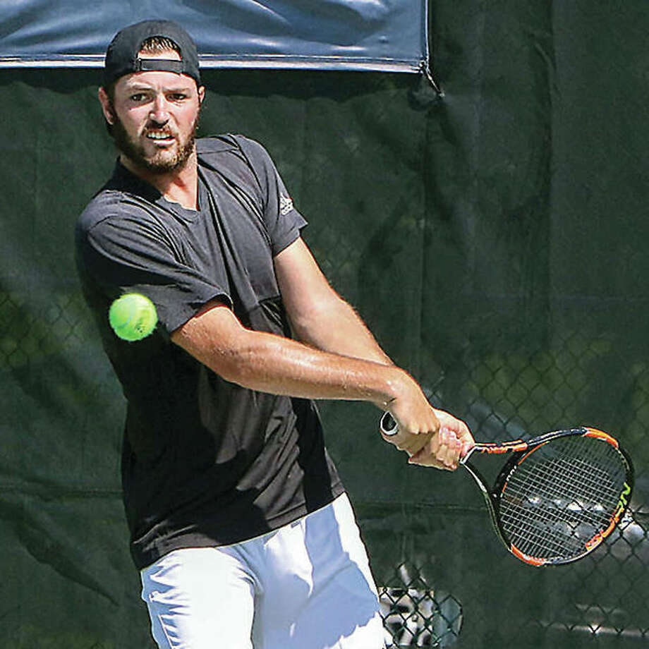Rhyne Williams of the US makes a return shot in during last year's Lewis and Clark Pro Tennis Classic. The USTA Futures event, which had been held the past 19 years, will not be held this year. Photo: Telegraph File Photo