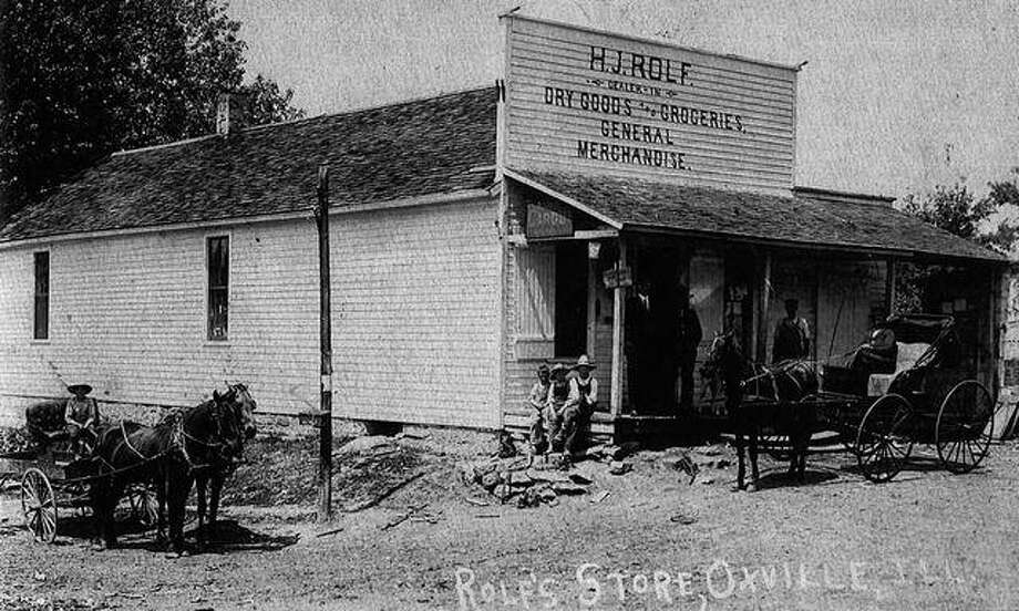 This is Rolf's general store in Oxville as it appeared in the early 1900s.