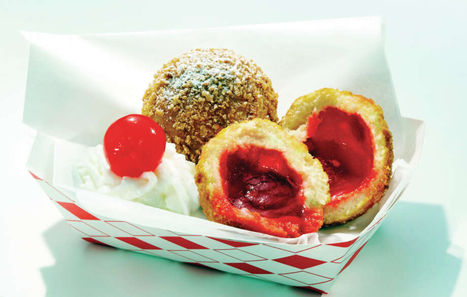 Fried Jell-O, created by Ruth Hauntz, is among eight funky foods in the running for Best Taste and Most Creative in the State Fair of Texas annual Big Tex Choice Awards. Fair officials in Dallas plan to announce the top two choices on Sunday. Photo: State Fair Of Texas Via AP