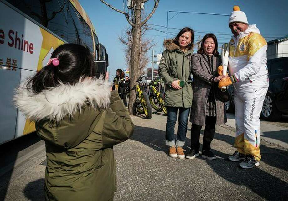 Andrew Liveris, chairman and CEO of The Dow Chemical Co., a Worldwide Partner and the Official Chemistry Company of the Olympic Games, took part in the Olympic Torch Relay Pyeongchang 2018. (Photo provided/The Dow Chemical Co.)