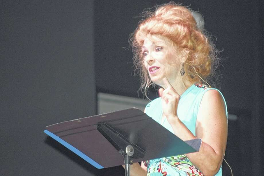 "Jacksonville actress Sherri Mitchell presents ""Vivien Leigh: More than Scarlett"" on Monday night during the 18th annual Prairieland Chautauqua at First Christian Church in South Jacksonville."