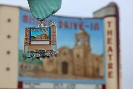 SA Flavor in partnership with San Antonio native Selina Bonilla, a UTSA graduate student, created a Mission Drive-In-themed Fiesta medal.
