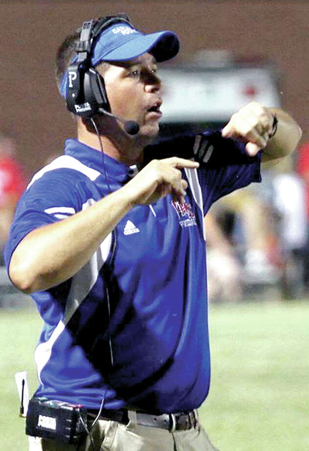 Carlinville High football coach Chad Easterday 's team opens the 2017 season Friday against SCC rival Hillsboro. Photo: Telegraph File Photo