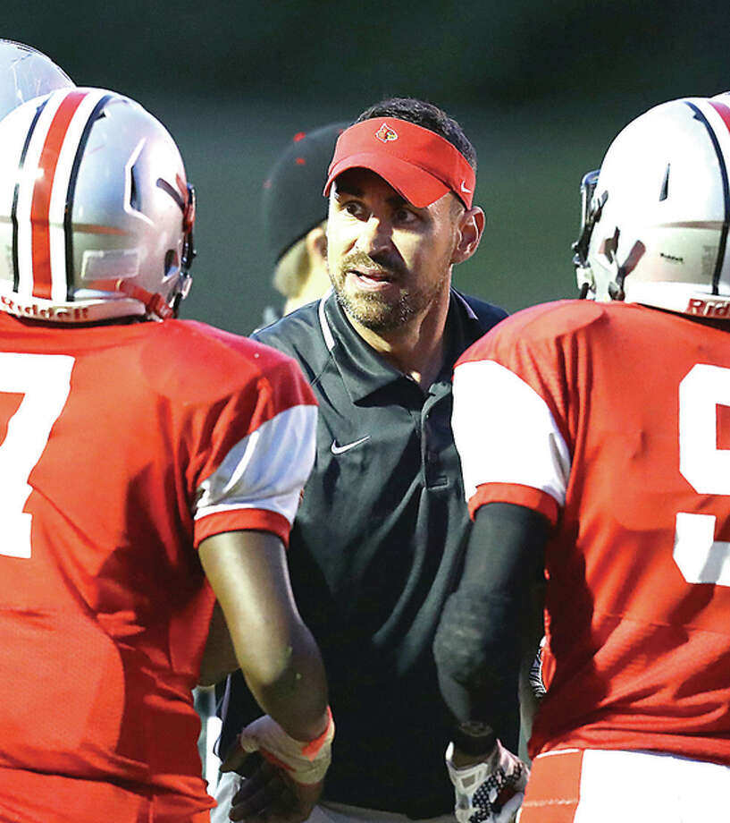 Alton's head coach Eric Dickerson's goals for his team are to compete for a Southwestern conference title and land a berth in the IHSA playoffs. Photo: Telegraph File Photo