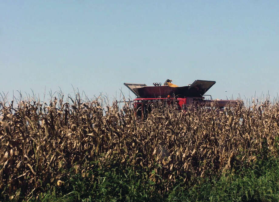 Fall harvesting begins in Macoupin County. Corn harvest was 3 percent complete statewide at the start of the week, according to the U.S. Department of Agricultural, which is lower than the five-year average. The majority of the crop is rated good to excellent. Photo: Beverly Watkins | Reader Photo