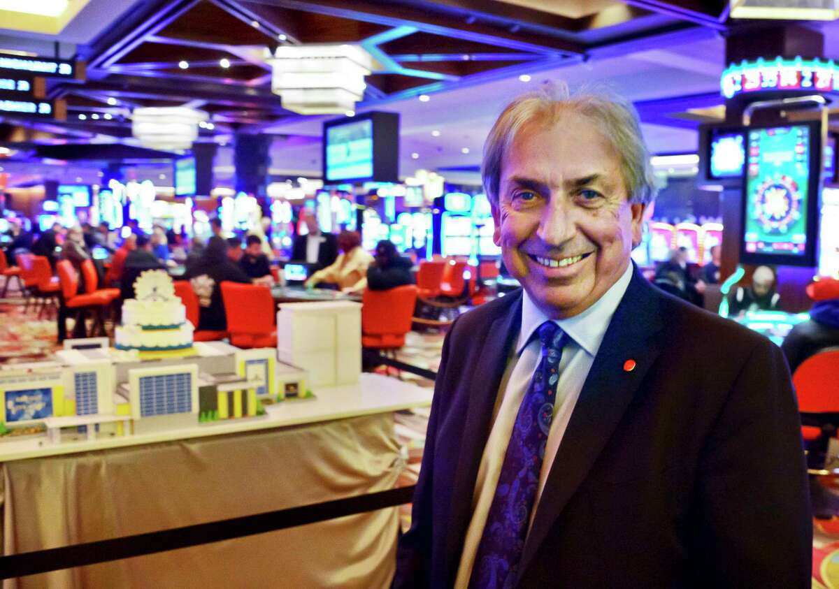 Galesi Group's David Buicko during Rivers Casino & Resort Schenectady first anniversary celebration Thursday Feb. 8, 2018 in Schenectady, NY. (John Carl D'Annibale/Times Union)