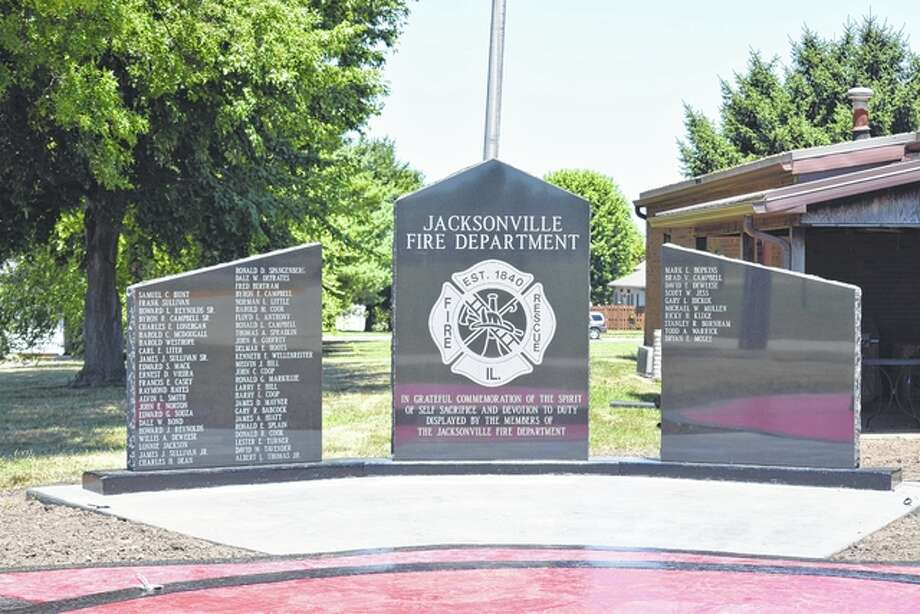 A new memorial wall and fountain will be dedicated at 11 a.m. Saturday at the Jacksonville Fire Department substation at 1600 W. Lafayette Ave.